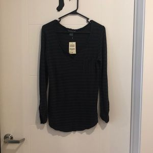 Lucky Brand Black Long Sleeve Top Size Sm NWT